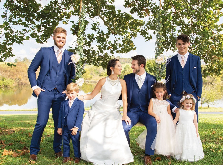 Wedding party in Blue new